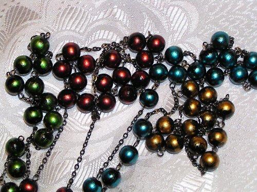 Metalízovaný náhrdelník.