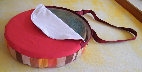 Červená taška na šamanský buben prům.30 cm