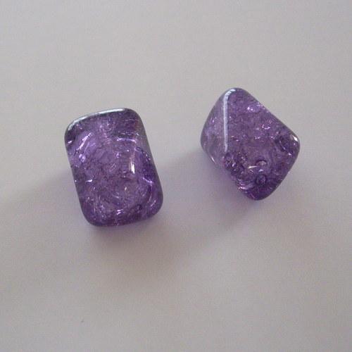 Mačkaná tvarovka - fialová práskaná, vosk