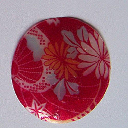 Perleťové malované kolečko tenké, 5 cm, Kvítí2