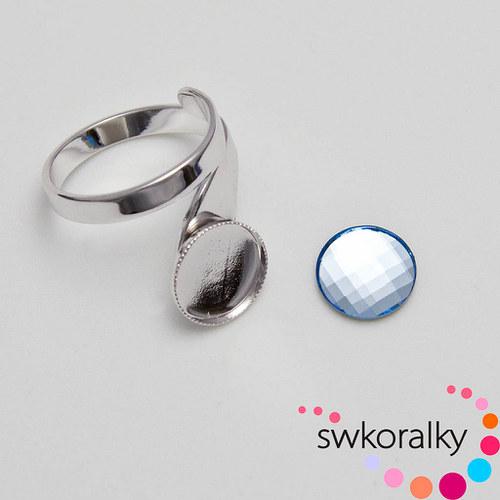 Prsten na CHESSBOARD kámen 10 SWAROVSKI ® ELEMENT