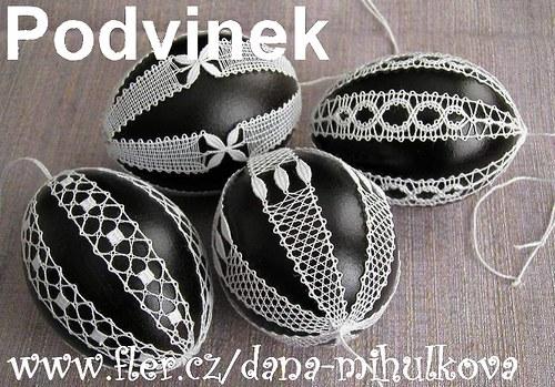 Podvinek 048 - Černobílé kraslice (6 kusů)
