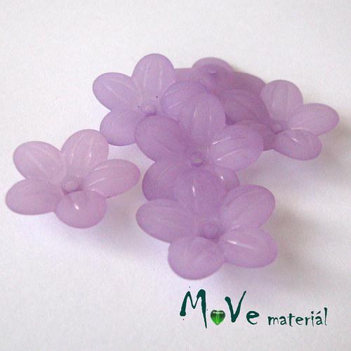 Akrylový transparentní květ 20mm, 6ks, tm. fialový