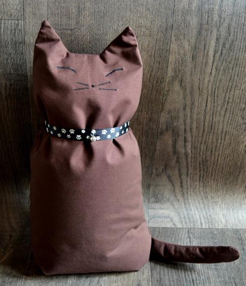 Dekorační polštář kočka hnědý