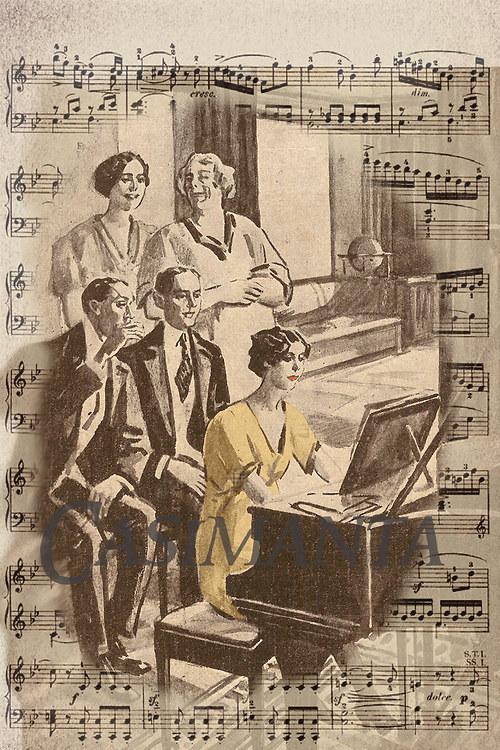 Domácí koncert - vintage motiv