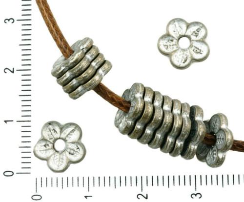 24ks Antické Bronzové Tón Matný Stříbrná Patina Um