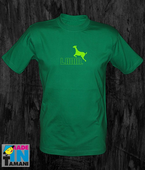 Pánské zelené tričko s Lamou 05