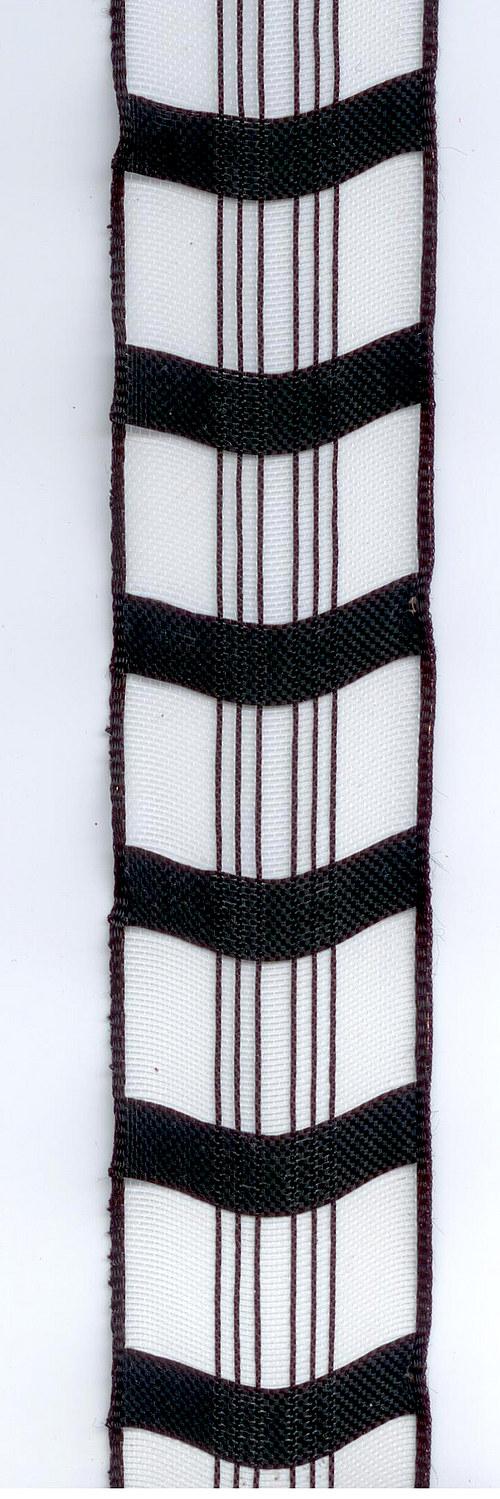 Stuha textilní s drátem
