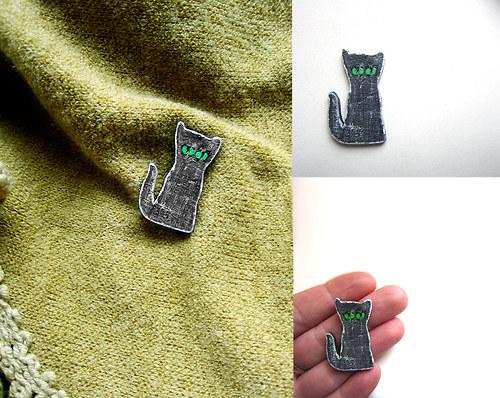 Kočičí mini brož