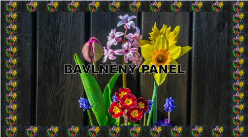 bavlněný panel 15 x 26 cm