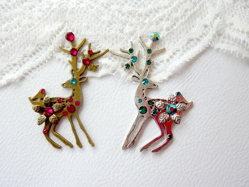 2x Brož s jelenem - Zvýhodněná sada!!!
