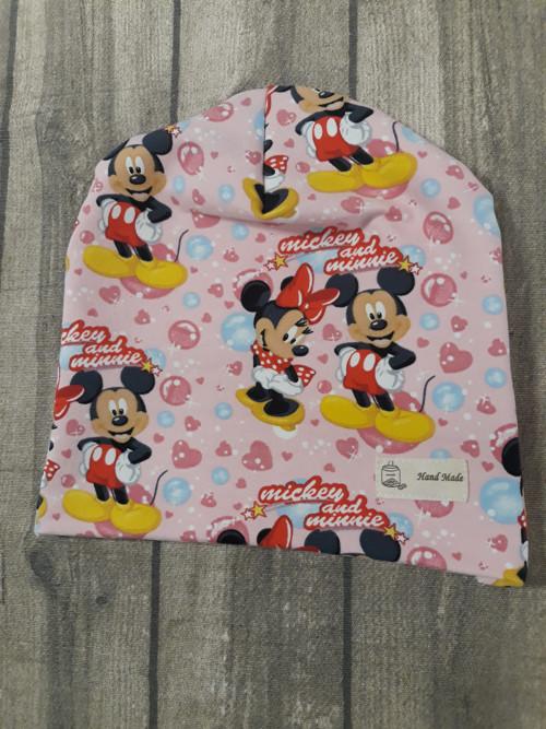 Čepička Mickey a Minnie Maus růžový