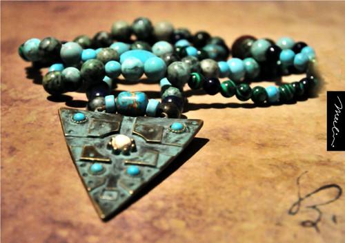 Náhrdelník - Šamanka - z minerálů - amulet