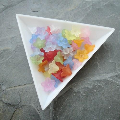 Mix plastových mini zvonečků 10x5 mm - 40 ks