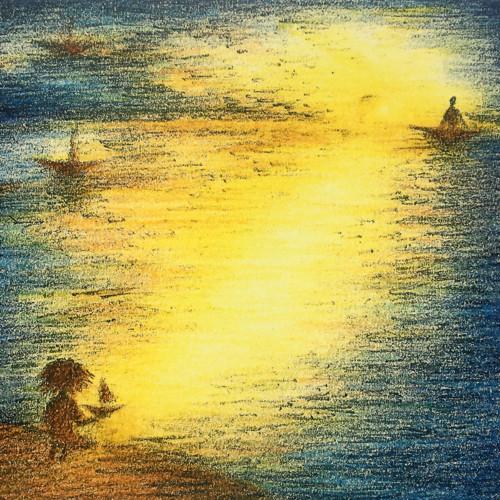 Kluk a moře života - kresba