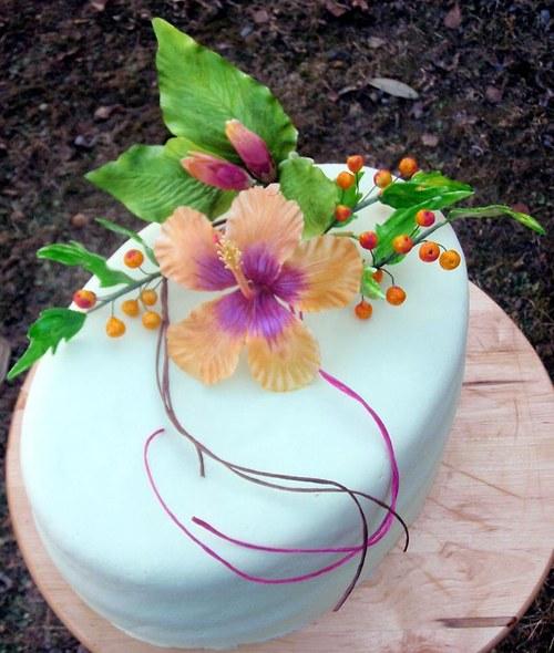 drátování květin z jedlé hmoty-wiltonská gumpasta