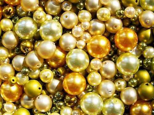 Voskové perle - žlutozelená směs