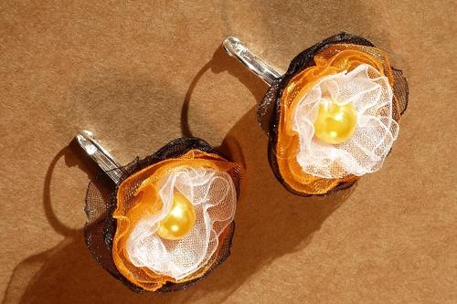 Kouzelné oranžové náušnice PRO ALERGIKY