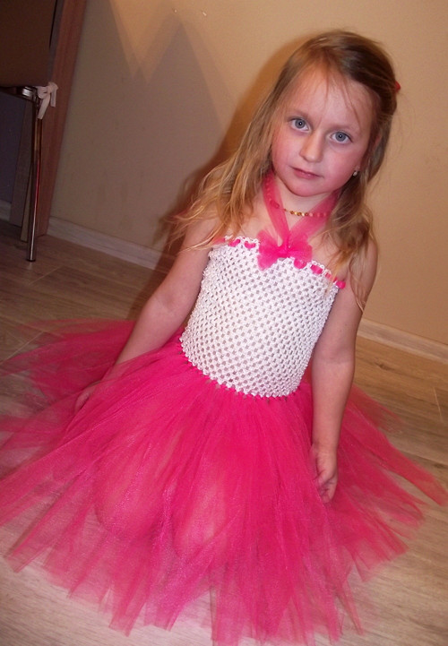 Tylové šaty - pro větší slečny 2-8let
