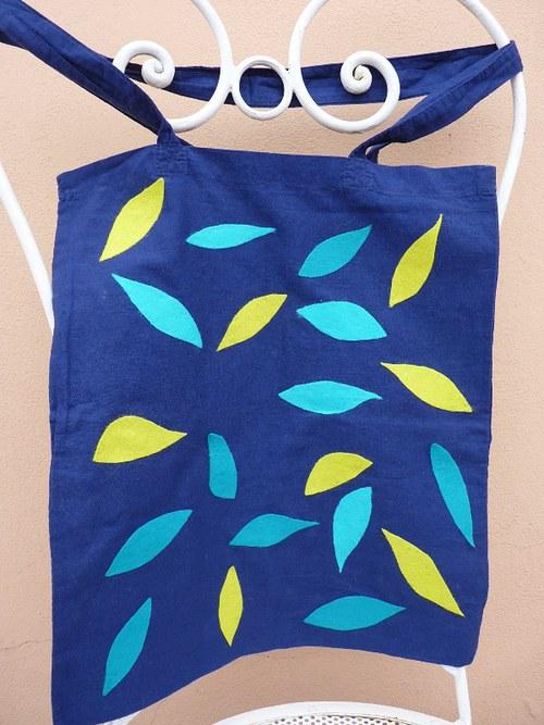 Optimistická látková taška - modrá