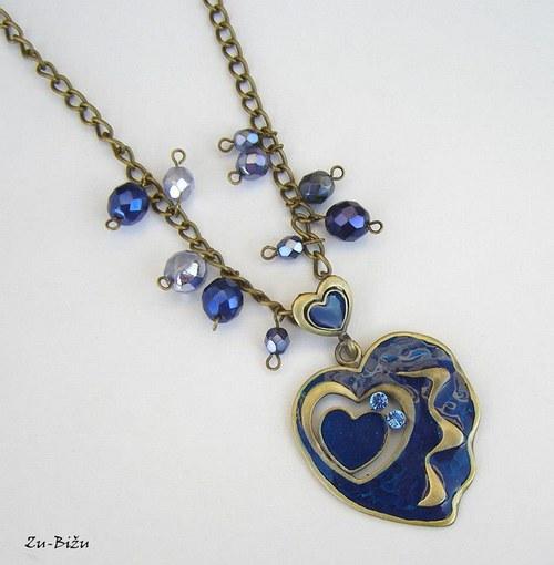 Modrý prívesok