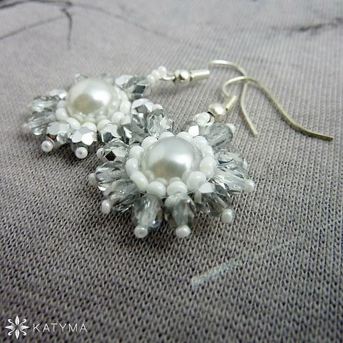 Náušnice svatební květinky 4