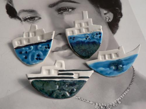 Keramika, Porcelánky Loďky mořslé. - brož