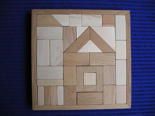 Podzimní domek - dřevěná skládačka