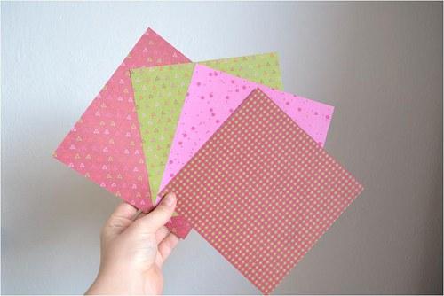 Oboustranný designový origami papír, 15cm, balení