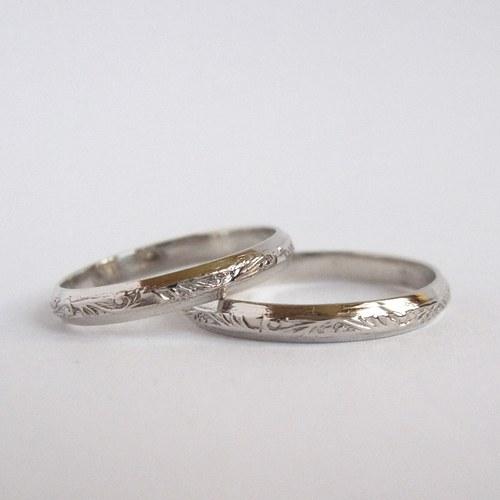 Snubní prsteny (bílé Au, 585/1000)