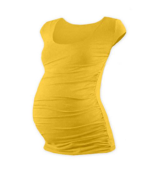Těhotenské tričko mini rukáv žlutooranžové