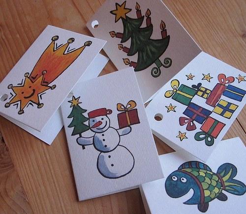Jmenovky vánoční 10 kousků
