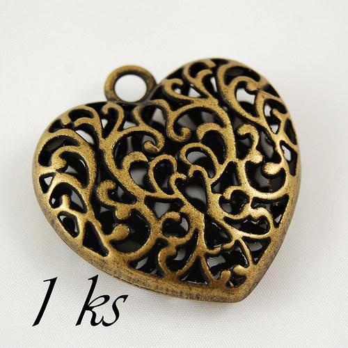 Veliké  3D srdce - 1ks