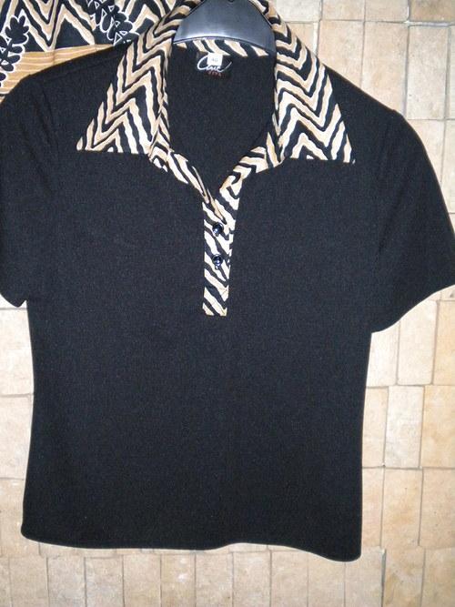Tričko s límečkem a krátkým rukávem
