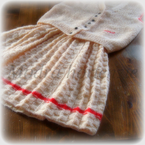 pletená sukýnka s vestičkou