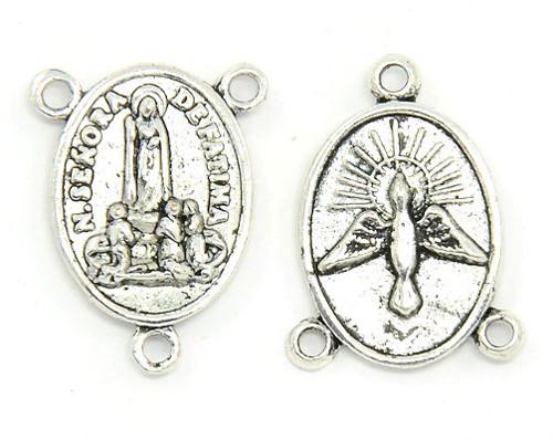 Madonka starostříbrná s madonnou a andělem, 10 ks