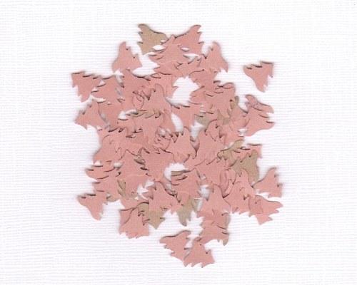 Vánoční stromečky - hnědočervené výseky (100 ks)