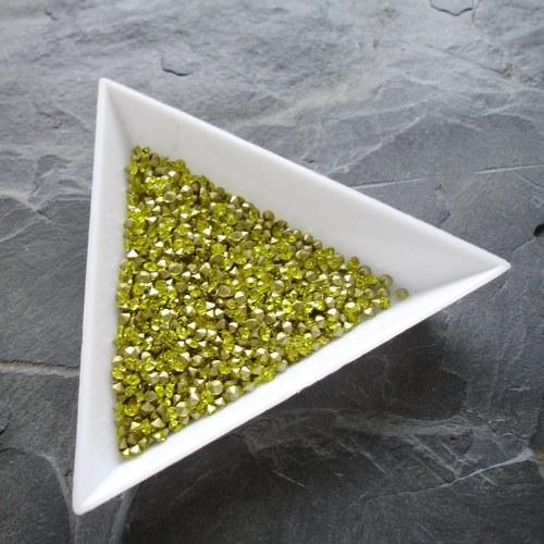 Skleněné šatony 2,2mm - 50 ks - žlutá