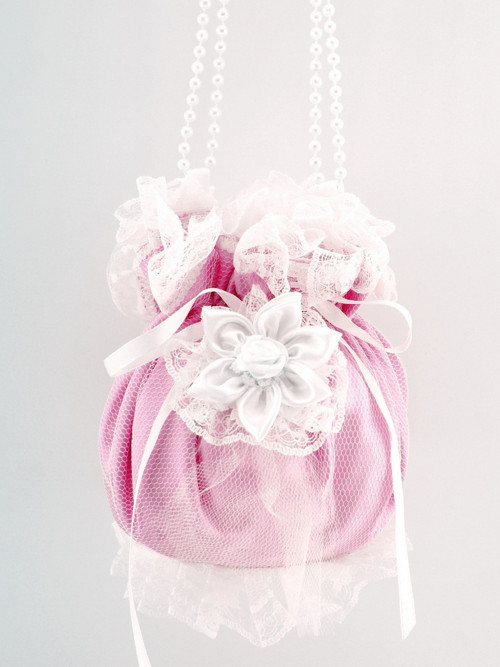 Pomparůrka růžová, kabelka  pro nevěstu RR4