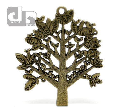 Velký bronzový přívěšek stromu 7 cm