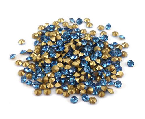 broušené šatony sv.modré SS10 - 2,70mm, 20ks