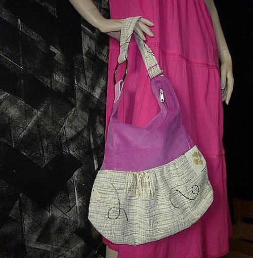 Růžovo béžová kabelka