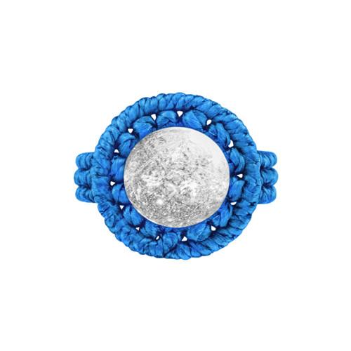 Ručně drhaný prsten s křišťálem