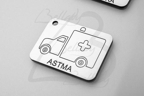 SPE4259, PRÍVESOK Astma STRIEBRO /1ks