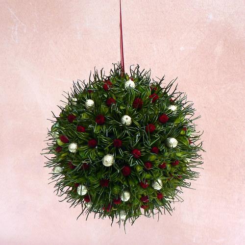 vánoční koule červeno-zlatá