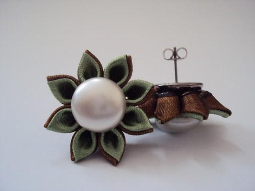Kanzashi naušnice SOPHIE