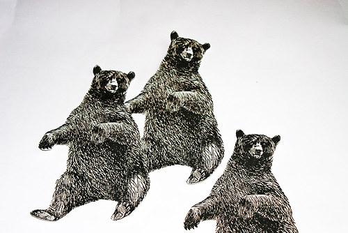 Medvěd - nažehlovací obrázky