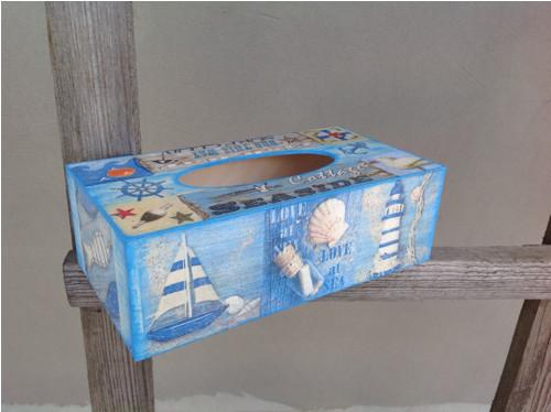 Krabička na kapesníčky - Mořská