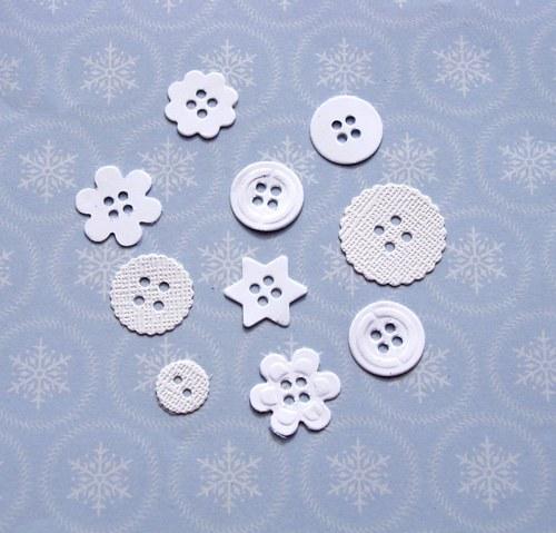 Bílé knoflíky - 10 ks