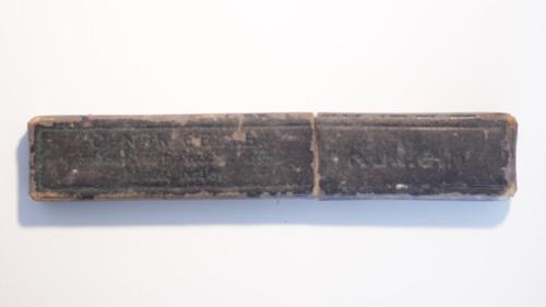 Starožitná krabička od břitvy kukleny